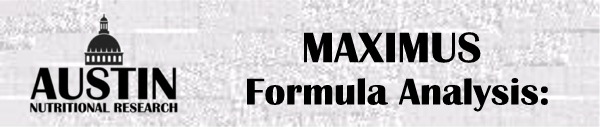 Formula Maximus Nutritional Supplement Vitamin Packet Special Analysis