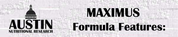 Formula Maximus Nutritional Supplement Vitamin Packet Special Features